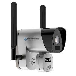 Правам температура тела Обнаружение температурных измерений беспроводная IP камера с аккумуляторной батареи