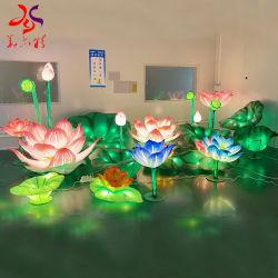 크리스마스 새해 훈장을%s 중국 전통적인 축제 연꽃 손전등
