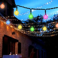 太陽電池式省エネ LED ストリングライトクリスマスデコレーションストリングライト LED の結婚披露宴の装飾的な照明球根の庭の防水の装飾的なランプ