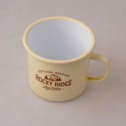 El logotipo de personalizar taza de café de esmalte esmalte esmalte esmalte tazas Mug taza fábrica China