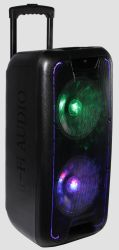 El doble de 10 pulgadas de alta calidad de PA altavoz de la luz intermitente LED RGB