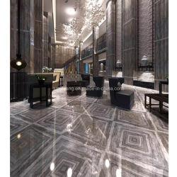 Mattonelle di marmo grige/bianche/nere del polacco di pavimentazione per la villa/hotel/cucina/stanza da bagno/controsoffitto