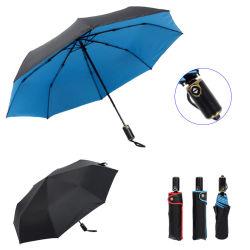 عرض أزياء للهدايا الأزرق / الأحمر مزدوج الطبقة فتح تلقائي إغلاق 3 قم بطي مظلة المطر