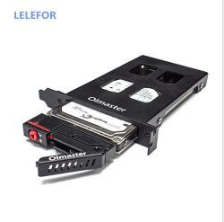 قرص صلب مدمج في علبة القرص الصلب PCI Single Disk Box حامل توسيع صندوقي متوافق مع القرص الصلب SATA/SSD مقاس 2.5 بوصة