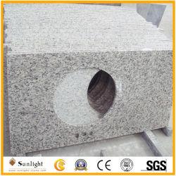 De goedkopere Bovenkanten van de Ijdelheid van het Graniet van de Huid van de Tijger Gele/Witte/Countertop