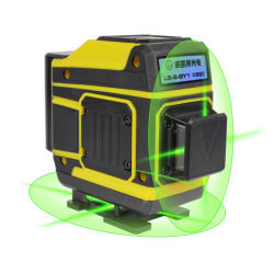 リチウムブルーライン20MW 532nm 3D 8lineの緑7mm回転式3Dレーザーのレベル