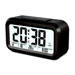 LCD Wekker van de Desktop van de Vertoning van de Temperatuur de Achter Lichte Met Kleur 5 voor Hotel