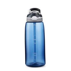 المغامرة مع زجاجة مياه تحفيزية ذات نصف جالون/64 أونصة مع الوقت قلم تخطيط وقشة، إبريق ماء خالٍ من مادة الBPA مقاوم للتسرب، تأكد من شرب الماء ما يكفي من المياه اليومية
