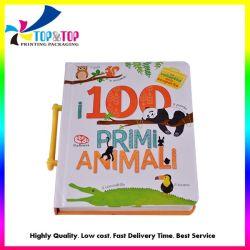 卸し売りOEMによってカスタマイズされる印刷サービスの子供はハンドルで懸命に本の印刷をカバーする