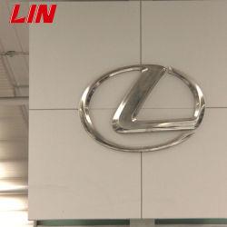 LED de alumínio Face metálica personalizada sinal logotipo cromado com iluminação de 3D o logotipo do carro para a Lexus