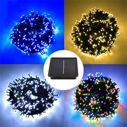 태양광 문자열 조명 멀티 컬러 32M 300 LED 태양광 동력 별이 빛나는 조명 실내 정원 마스의 방수 야외 조명 트리홈 웨딩 파티 데코