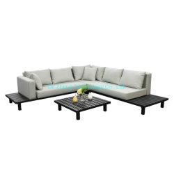 Prueba de agua artesanal de lujo Uphostery tejido seco Qucik sofá al aire libre para uso doméstico con listones de aluminio de diseño