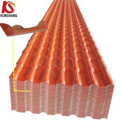Kunshang 4 capas de PVC de ASA de techos en español/Teja