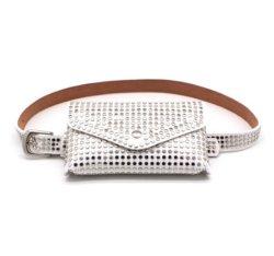 女性のウエスト袋旅行様式のウエストバッグの調節可能なベルトは小さい方法リベットの偶然の電話袋の贅沢なギフトの財布をマルチ使用する