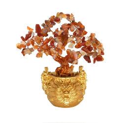 Pedras preciosas cicatrização em cluster misto Chacra Crystal Feng Shui Árvore de flores de plantas como dom