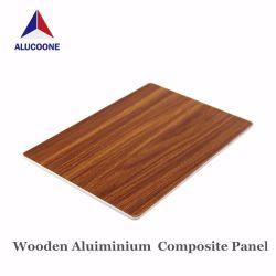 Strato composito di alluminio di legno rivestito del comitato ASP di struttura 3mm di colore del PE per la parete dell'interno decorativa