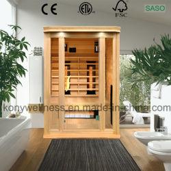 원적외선 건식 사우나룸은 헴록이나 시다로 만들어졌습니다 캐나다산 목재와 세라믹 또는 카본 히터는 실내입니다 사용