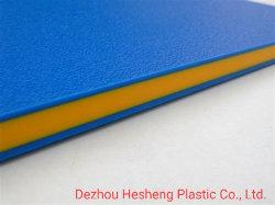 Разрез по размеру пластмассовый два цвета короля цвет Core HDPE лист/платы/пластины/опорной пластины на детскую площадку оборудования