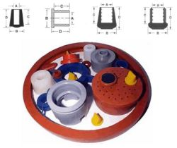 液体の圧縮鋳造物の産業ゴム製製品