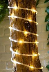 Außenleuchte Wasserdicht 50LED warme LED Soft Tube Solar Seil Röhrenlichter LED-String-Streifen für dekorative Weihnachtshochzeit Partygarten