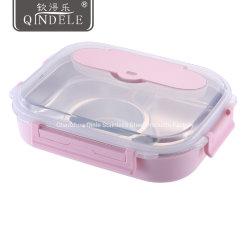 O OEM/ODM estanque Amiga 1.6L COMPARTIMENTO 3/4 304 aquecida em aço inoxidável Almoço Bento Caixa para meninos e meninas/Adolescentes