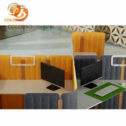 Fibra de poliéster 3D de la estación de trabajo acústico para el adorno de mesa de oficina material ignífugo