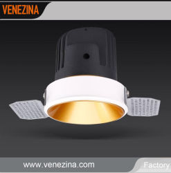 15W 20W Trimless évidement Downlight Led avec réflecteur d'or