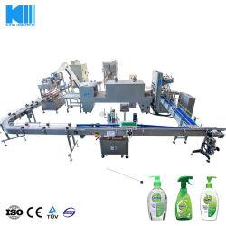 6000bph quotidienne automatique Machine de remplissage d'emballage des produits chimiques de la ligne de production