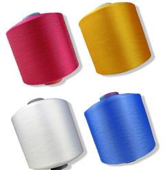 Commerce de gros Dope teints 150d 48f Noir et Blanc RW SD Nim AA Grade DTY Poly PSE 100 % polyester Iplik 150/48