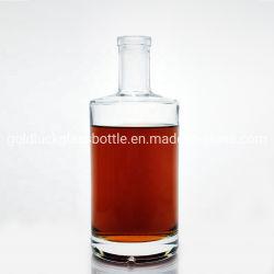 500ml/750ml/1L/1.75L de Flessen van het Glas van de alcoholische drank voor Verpakking Tequila/Jenever/Wodka/Wisky/Rum met Cork