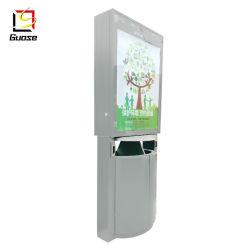 Custo-Made Edelstahl LED für den Außenbereich umweltfreundlich Papierkorb.