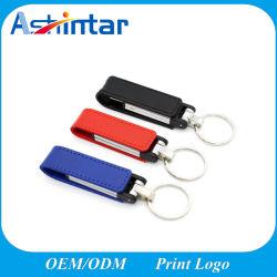 محرك أقراص USB Flash من الجلد سعة 4 جيجابايت وسعة 8 جيجابايت وسعة 32 جيجابايت قلادة جلدية، بطاقة USB Stick 64 جيجا بايت