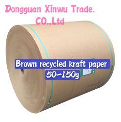 70GSM ha riciclato Brown Kraft che sposta il piccolo rullo di carta in Cina