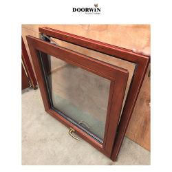 傾きの回転Windows、アルミニウム木製のWindowsの木の窓枠デザインに二重ガラスをはめる隠されたヒンジによって合う外部アルミニウムクラッディングが付いているカシ木Windows