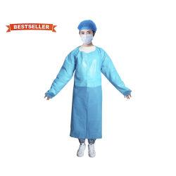 Isolant médicaux jetables adaptés à l'isolement Anti-Droplet uniformes robes de PP