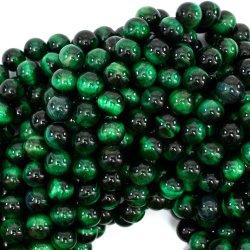 Natürliche grüne Tiger-Augen-Stein-Raupen für die Form Schmucksache-Schmucksachen, die alle Größe zur Verfügung stellen