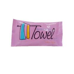 Kundenspezifische Druck-Tasche gepackte empfindliche nicht gesponnene Hand, die nasse Wischer säubert