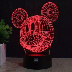 装飾的な大気ランプを変更する肖像画3Dミッキーマウス7カラー