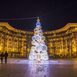 Geformter dekorativer Baum-Zweig des Motiv-Licht-Baum-LED beleuchtet 3D Motiv-Lampe der Kugel-LED