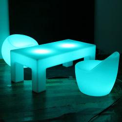 Acender a luz de LED de casamento de mobiliário mesa e cadeira com controlo remoto de infravermelhos para venda