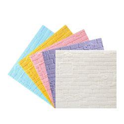 Self-Sticky 3D de 5mm de espesor resistente al agua y prueba de sonido XPE Papel tapiz de espuma adhesivo de pared para interiores Decroation con diferentes colores y paquetes