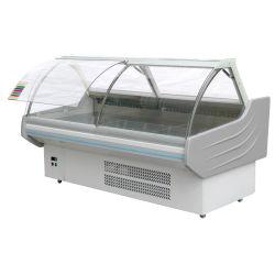 Banheira de venda de refrigeração do ventilador Supermercado Vitrine Deli Showcase Armário de carne