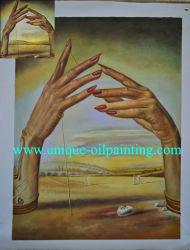 Huile sur toile, huile de la Reproduction de peinture de Dali, célèbre huile sur toile