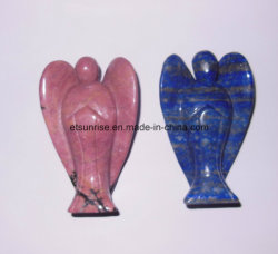Semi Precious Stone Angel Carving, Carving Fashion, Figure, Statue (ESB01504)