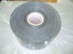 PE aluminio anticorrosión Metro Pipe wrap, el ajuste de la cinta del conducto de cinta adhesiva intermitente, Polietileno cinta de butilo