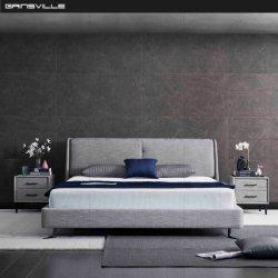 Design moderno e personalizado a cobertura de tecido Hotel quarto conjunto de móveis Cama Parede Fabricado na China