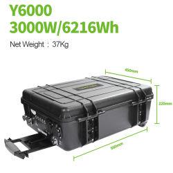 Marcação RoHS elevada capacidade de 6000wh Potência portátil Station onda senoidal pura Inversor Painel PV para Camping Volta Industrial de Emergência no exterior Sugineo Ferramentas