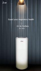 3U de desinfecção UV HEPA Real Baixo ruído de mini domésticos Purificador de Ar
