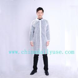 Résistant aux éclaboussures robe d'isolement non tissés jetables/blouse de laboratoire