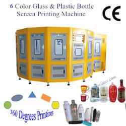 6 Printer van het Scherm van de Fles van /Glass van de Grootte van de kleur de Grote Plastic